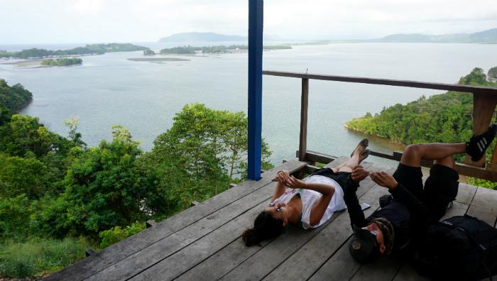 relax at Teluk Youtefa Papua