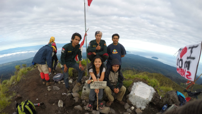 made it to the tambora summit