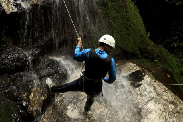 With so many waterfalls, canyoning has become a popular tourist activity in Bali.