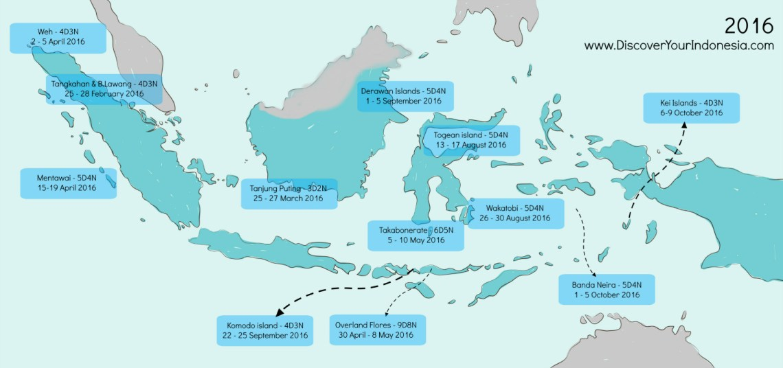 Discover Indonesia Tours Map