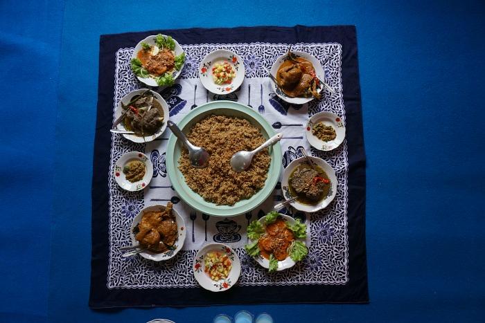 Meal time at Palembang
