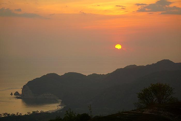 Sunset view Tarimbang beach from Sumba Paradise