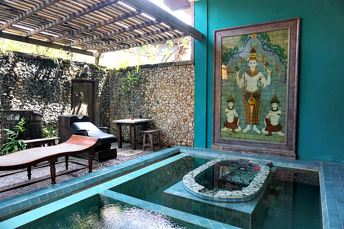 One of the spa rooms in Tugu Hotel Bali