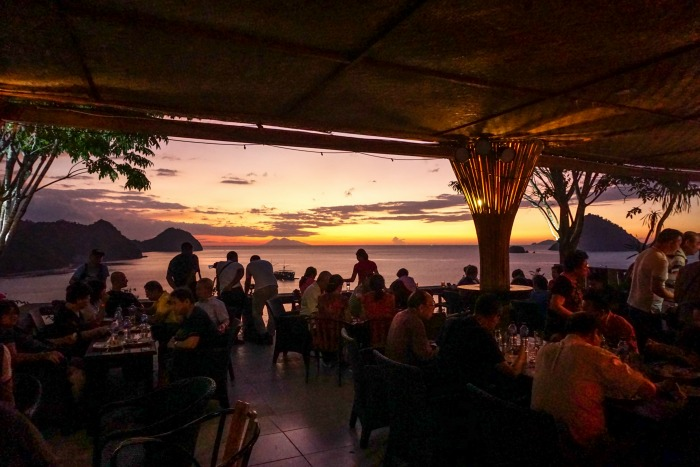Sunset view from Paradise Bar Labuan Bajo
