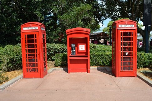 Epcot UK Phone Booths