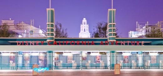 Disney California Adventure Entrance At Night