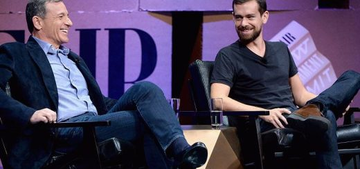 Disney CEO Bob Iger with Twitter CEO Jack Dorsey.