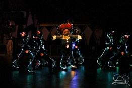 Jessie leads the Toy Story unit in Disneyland's Paint the Night Parade.