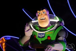 Buzz Lightyear in Disneyland's Paint the Night Parade.