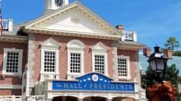 magic kingdom hall of presidents closed