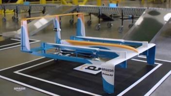Video of Amazon unmanned delivery drones released