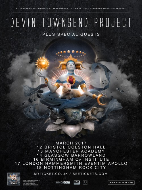 Devin Townsend Project UK Tour 2017