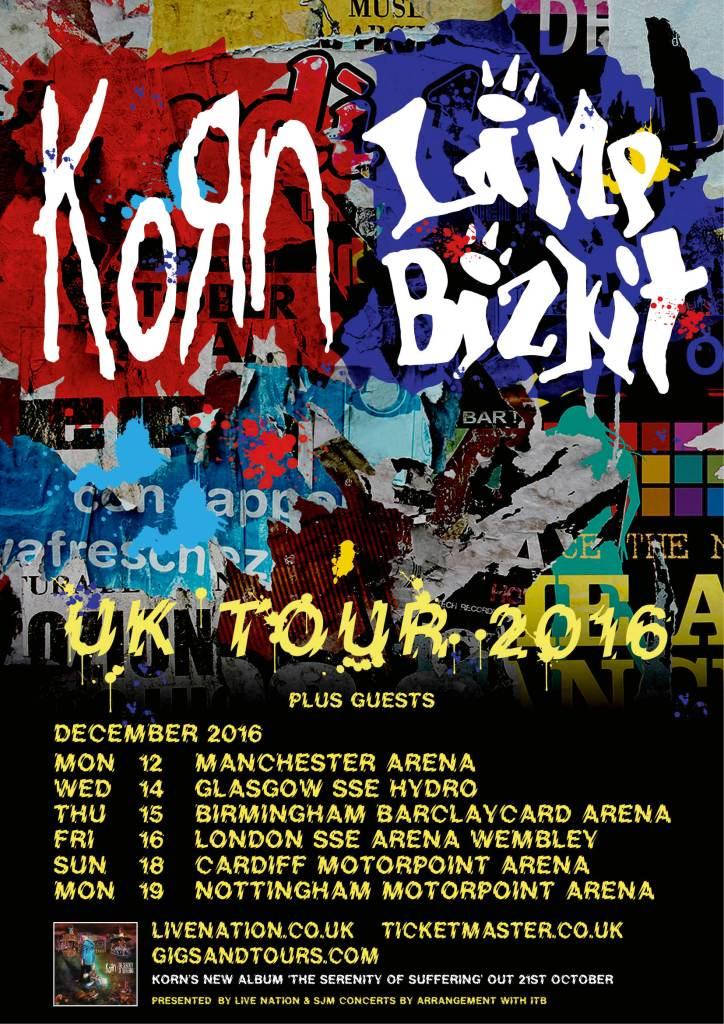 Korn and Limp Bizkit UK Tour 2016