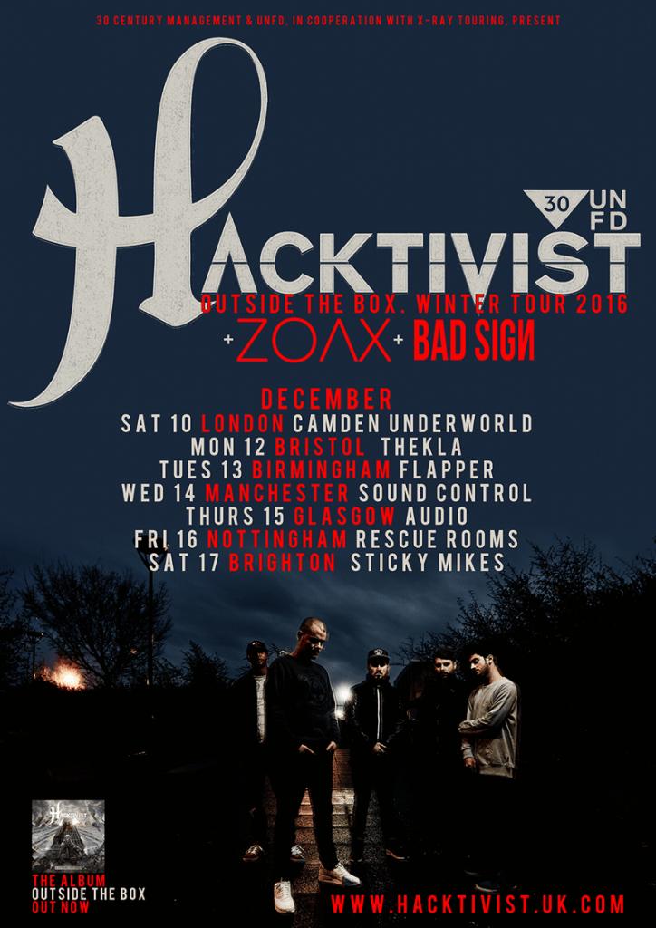 Hacktivist UK tour 2016