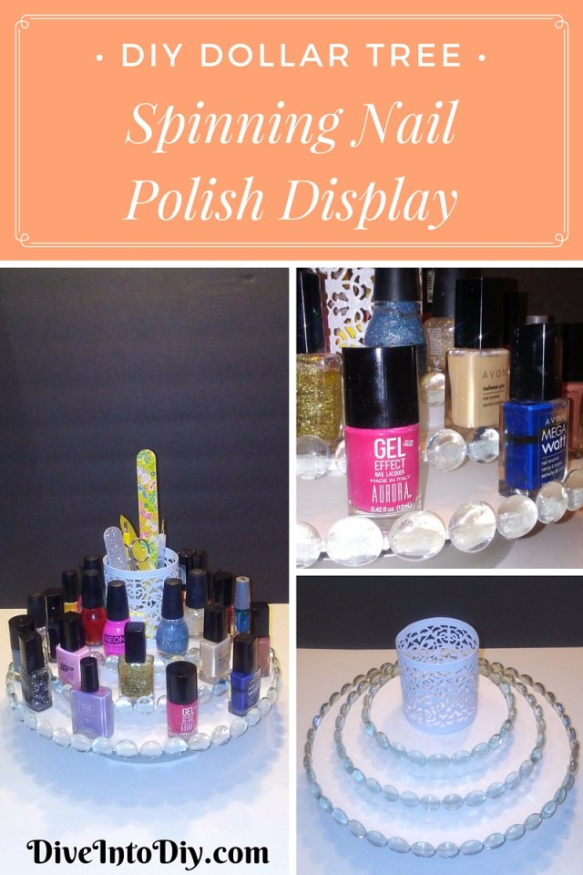 Diy spinning lazy susan nail polish display home decor organizer craft project 3