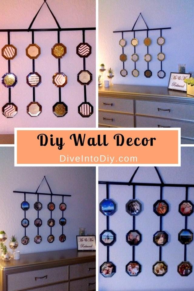 diy dollar tree mirror wall art decor craft 50