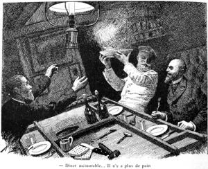 repas à bord 19ème siècle