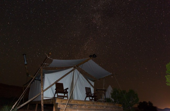 Night at Moab Under Canvas - Photo by Jack Burke