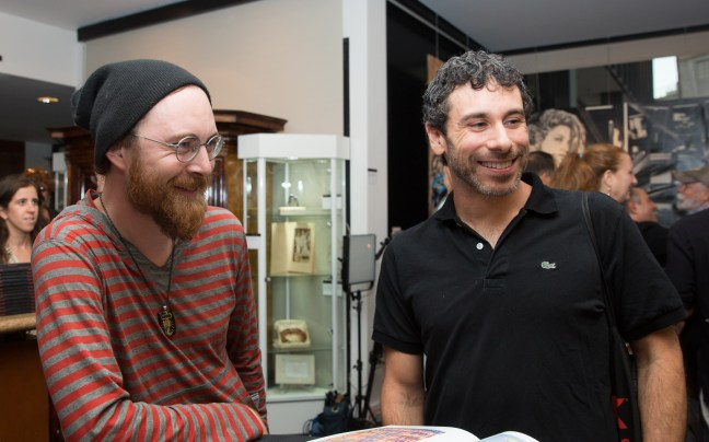 Bleep (left) with The Gabba Gallery owner, Jason Ostro (right)