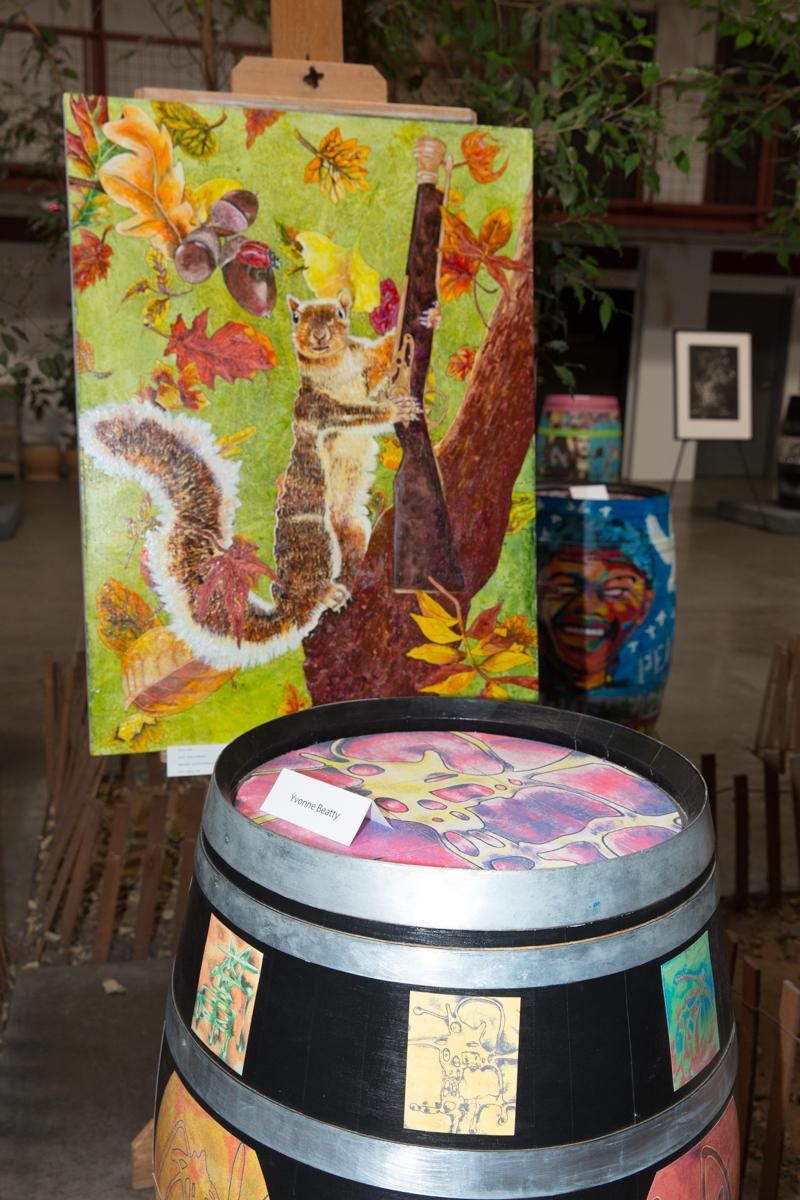 botart barrels of art for world art day diversions la