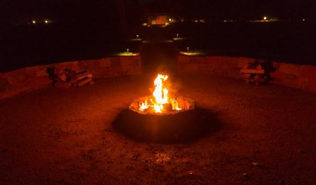 Santa Fe Sunrise Springs Medicine wheel fire night