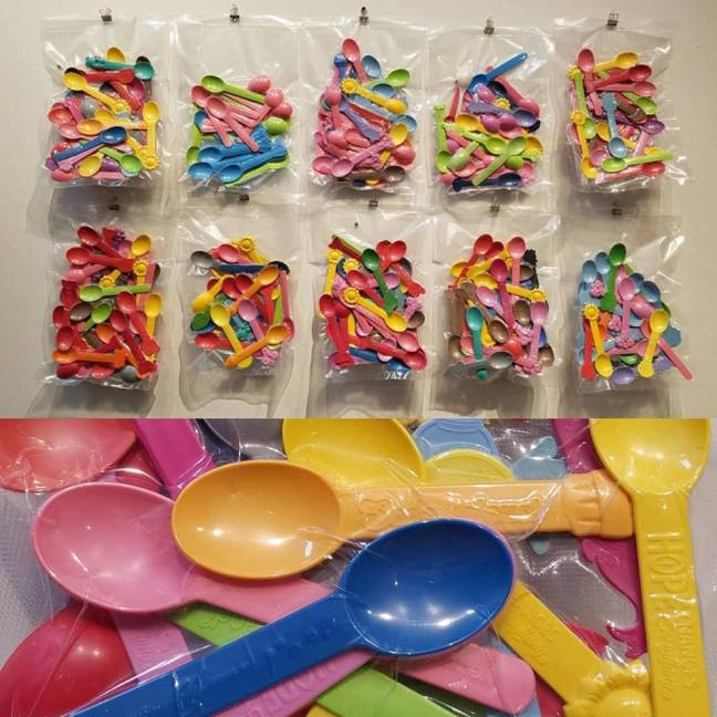 Yogurtland spoons