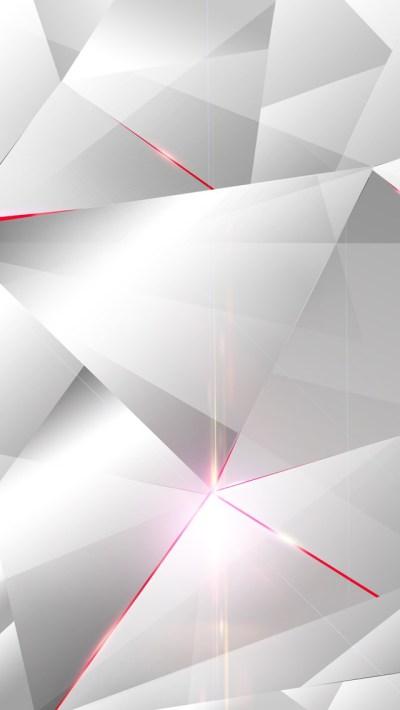 白と赤のポリゴン   スマホ壁紙/iPhone待受画像ギャラリー