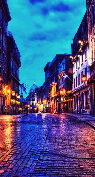 【夜景】ヨーロッパの街路【iPhone壁紙】 | iPhone5s壁紙/待受画像ギャラリー