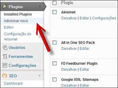 adicionar novo plugin wordpress