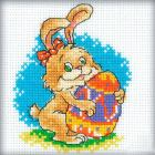 Free cross stitch pattern easter bunny