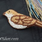 DIY Beaded Bird Brooch