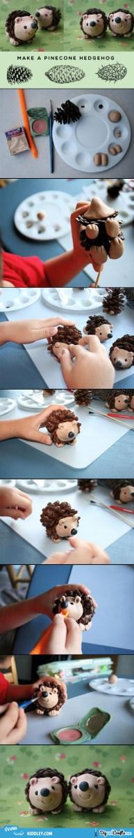 Make a pine-cone hedgehog   DIY Fun for Kids