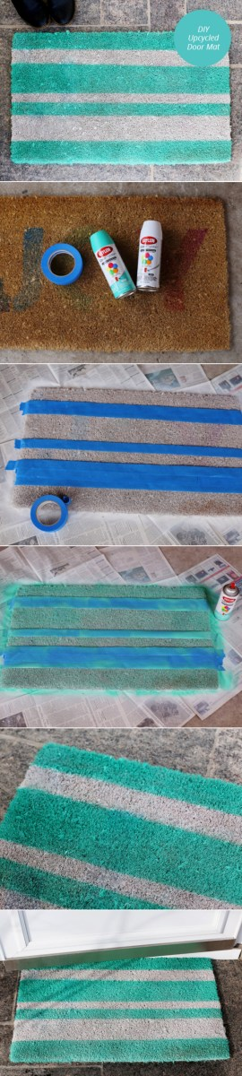 DIY Upcycled Door Mat | From Momtastic
