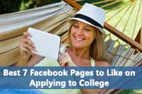 Woman looking at Best Facebook Pages on College Admissions