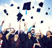 graduating students representing colleges with highest graduation rates by state