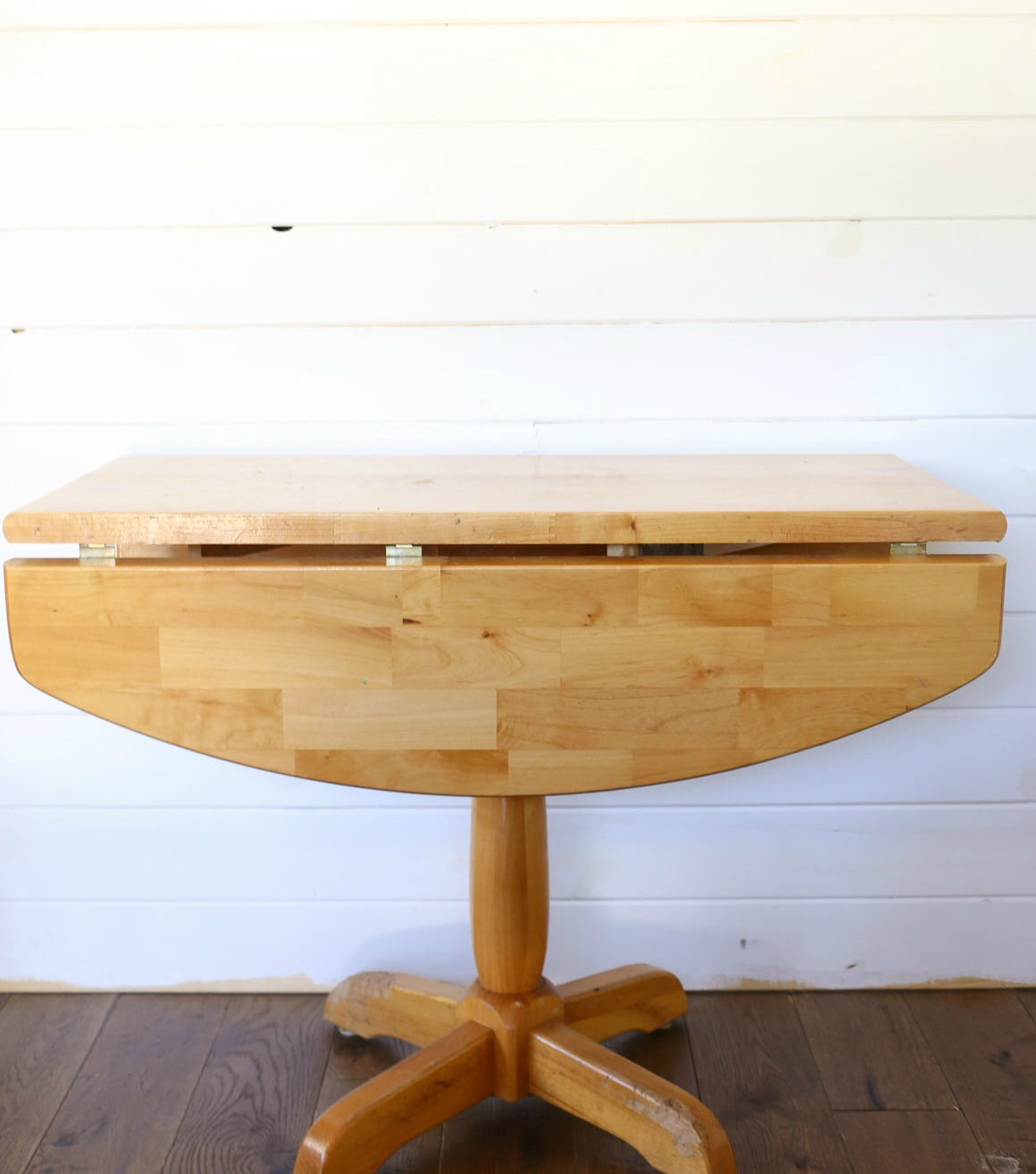 (Before) Rustic Refinished Farmhouse Table Makeover by This Mama's Dance - DIY Furniture Makeovers