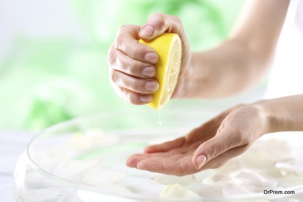 Lemon juice is an effective remedy