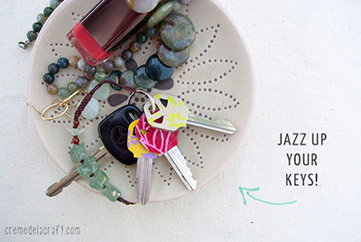 5-Minute-DIY-Idea-Project-Personalize-Key-Chain-Keychain-Keys-Ring-Cover-Handmade