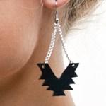 leather cutout earrings tn