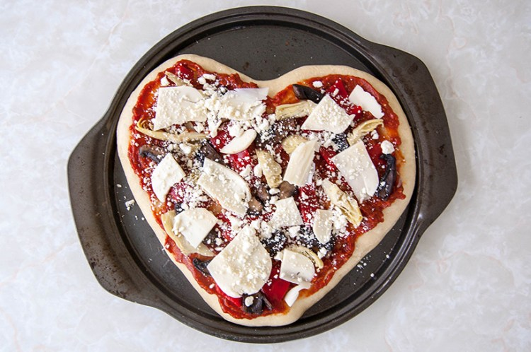 Valentine's Day idea: Make heart-shaped pizza