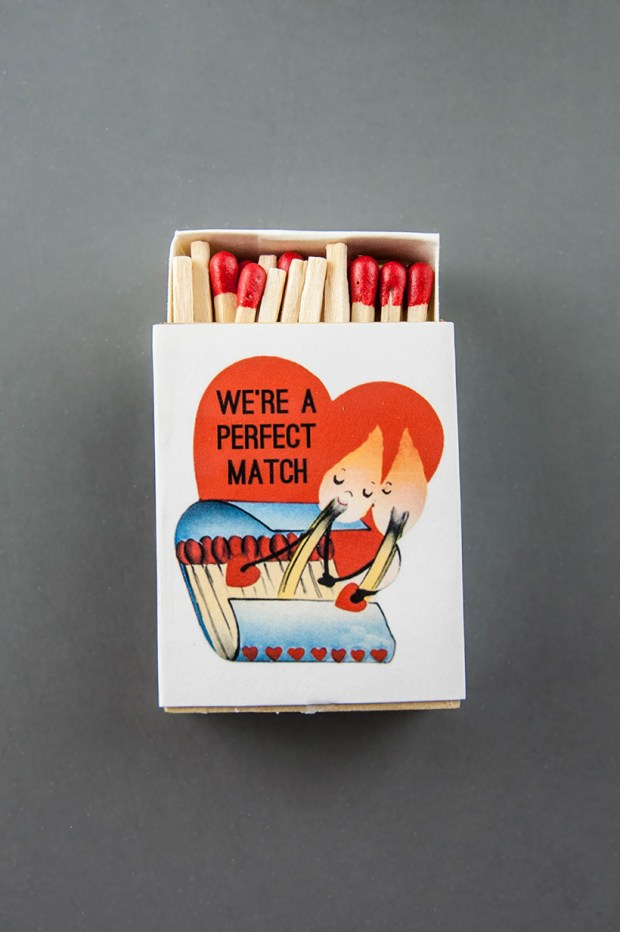 Valentine's Day matchbox