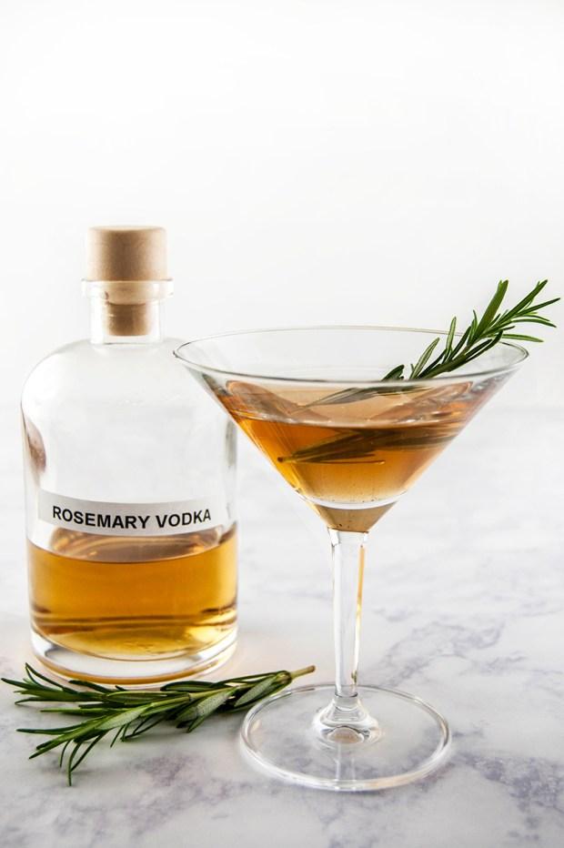 rosemary-infused vodka martini recipe