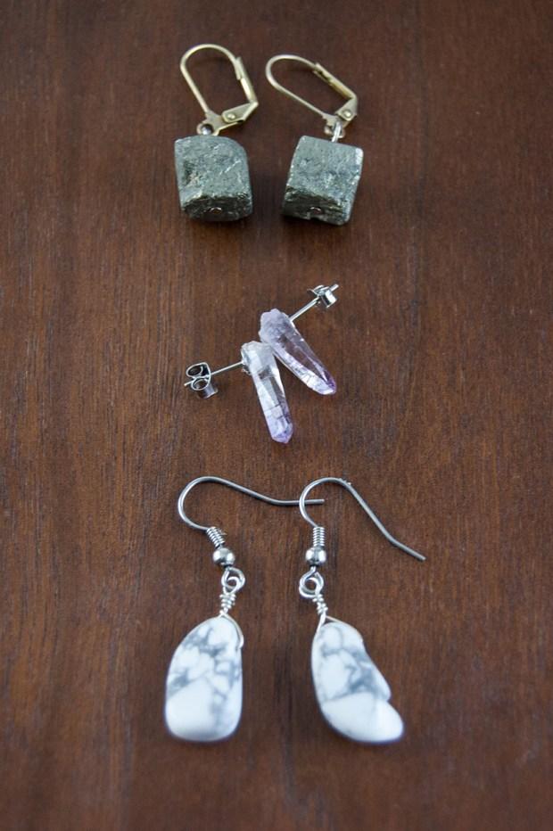 Easy DIY crystal earrings