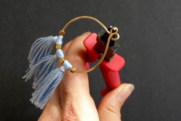 DIY Tassel and Brass Earrings