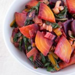 Beets and Chard with Roasted Garlic Lemon Dressing