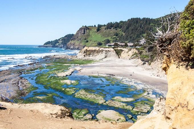 Oregon coast Devils Punchbowl Natural Scenic Area