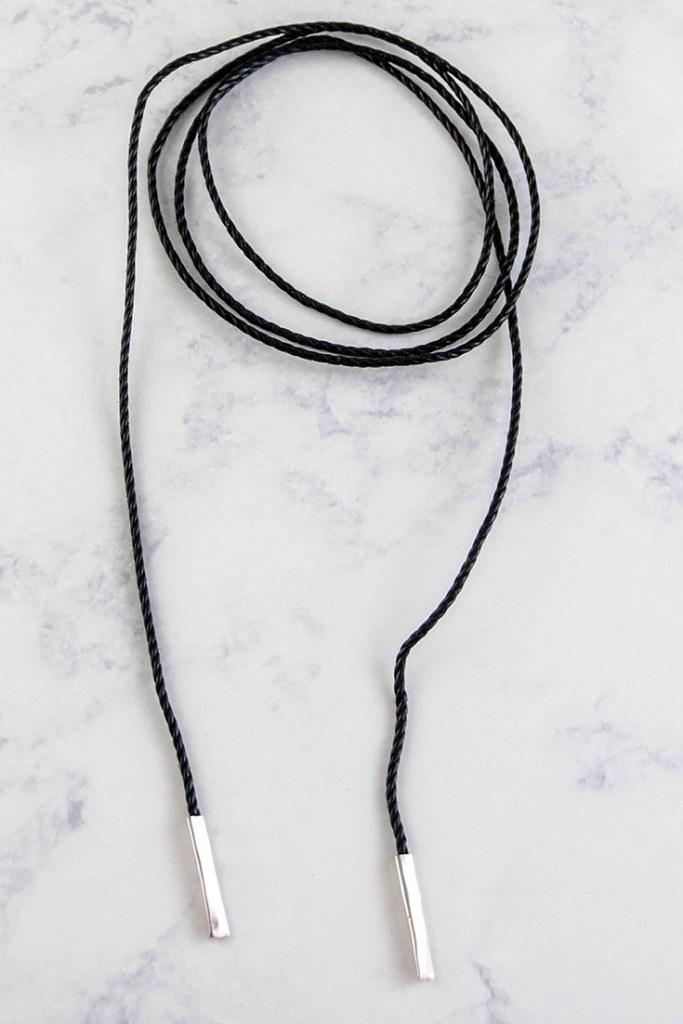 DIY bolo wrap necklace