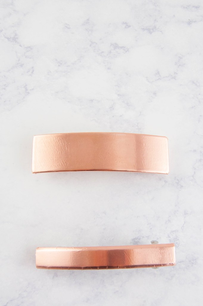 Make an easy DIY copper hair clip/barrette