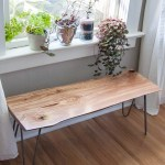 How I made a DIY live-edge wood bench with hairpin legs