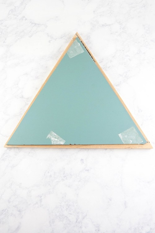 Make a DIY Triangle Mirror - How to cut the mirror and the wood, then assemble it into a cool triangle mirror.